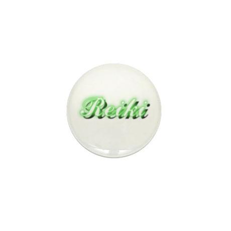 Reiki (Neon Green) Mini Button