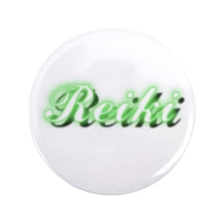 """Reiki (Neon Green) 3.5"""" Button (100 pack)"""
