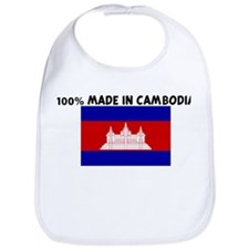 100 PERCENT MADE IN CAMBODIA Bib