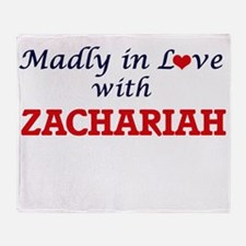 Madly in love with Zachariah Throw Blanket