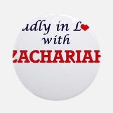 Madly in love with Zachariah Round Ornament