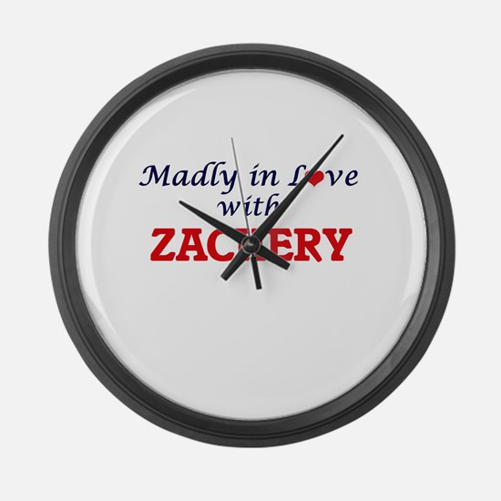 Madly in love with Zachery Large Wall Clock