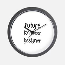 Future Knitwear Designer Wall Clock