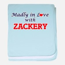 Madly in love with Zackery baby blanket