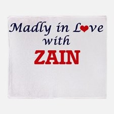 Madly in love with Zain Throw Blanket