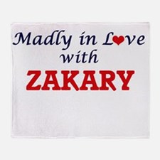 Madly in love with Zakary Throw Blanket
