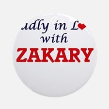Madly in love with Zakary Round Ornament