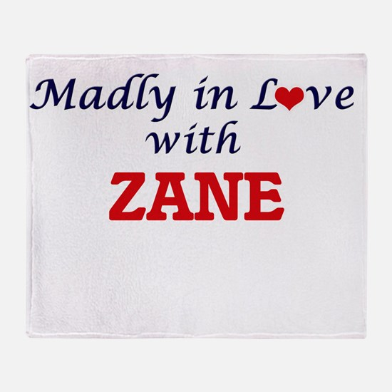 Madly in love with Zane Throw Blanket