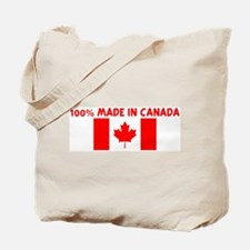 100 PERCENT MADE IN CANADA Tote Bag