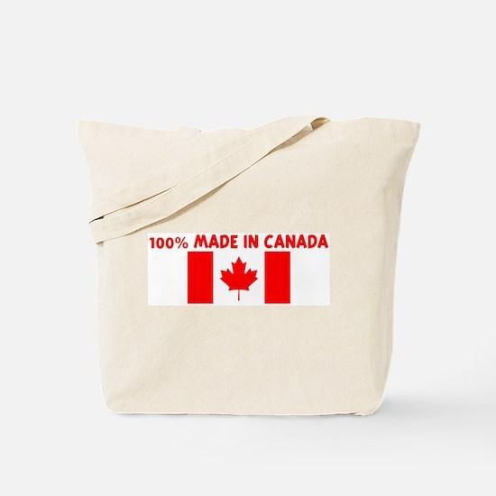 100 PERCENT MADE IN CANADA Tote Bag