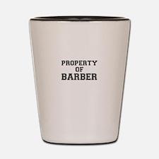 Property of BARBER Shot Glass