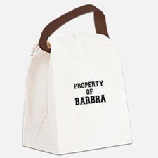 Property of BARBRA Canvas Lunch Bag