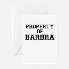 Property of BARBRA Greeting Cards