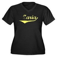 Zaria Vintage (Gold) Women's Plus Size V-Neck Dark