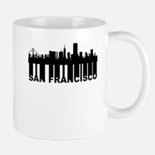 Roots Of San Francisco CA Skyline Mugs