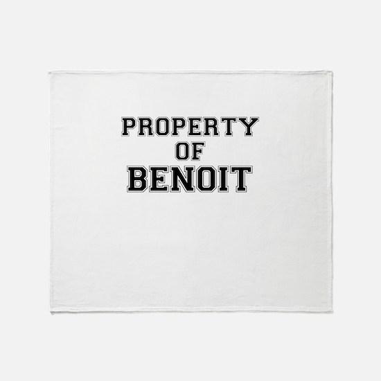 Property of BENOIT Throw Blanket