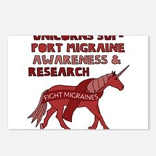 Unicorns Support Migraine Postcards (Package of 8)