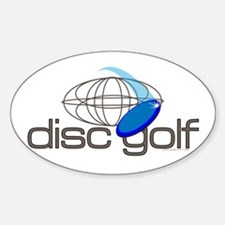 Disc Golf 3 Oval Decal
