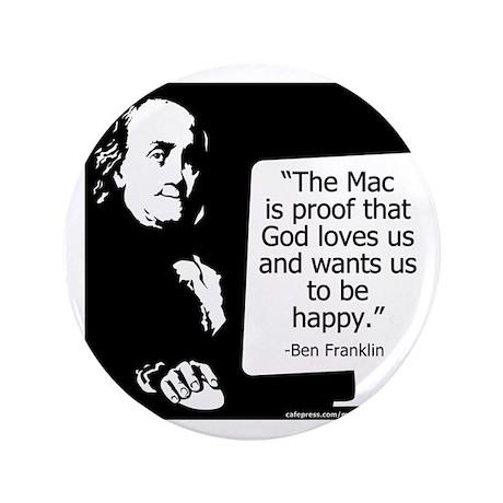 """Ben Franklin 3.5"""" Button"""