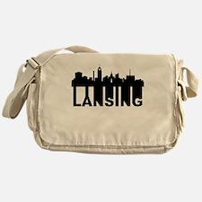 Roots Of Lansing MI Skyline Messenger Bag