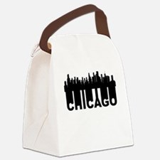 Roots Of Chicago IL Skyline Canvas Lunch Bag
