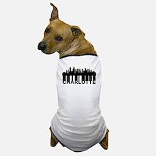 Roots Of Charlotte NC Skyline Dog T-Shirt