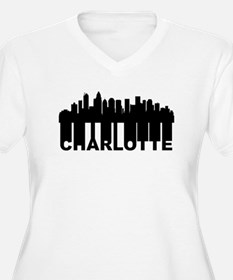 Roots Of Charlotte NC Skyline Plus Size T-Shirt