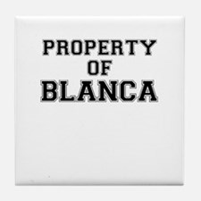 Property of BLANCA Tile Coaster