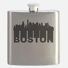 Roots Of Boston MA Skyline Flask