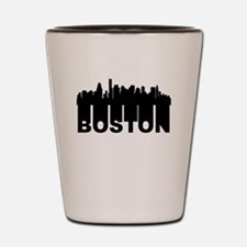 Roots Of Boston MA Skyline Shot Glass