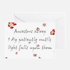 Genealogy Haiku Greeting Card