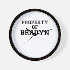 Property of BRADYN Wall Clock