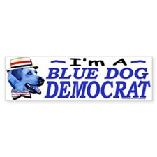 Blue Dog Bumper Bumper Sticker