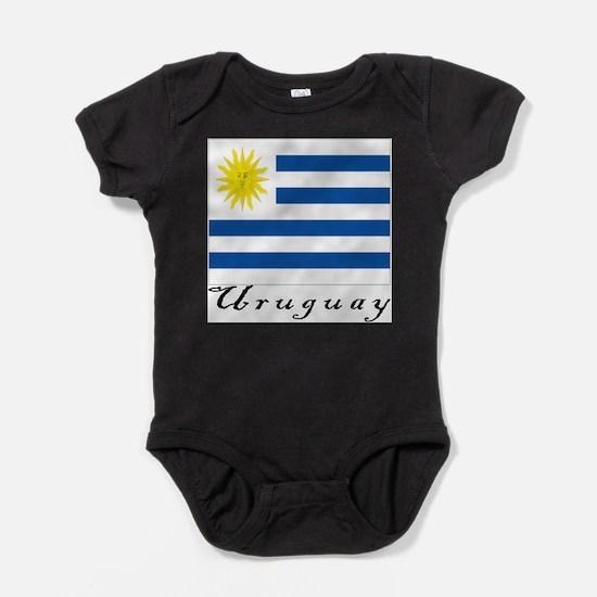 Cute Uruguayan flag Baby Bodysuit
