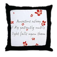 Genealogy Haiku Throw Pillow