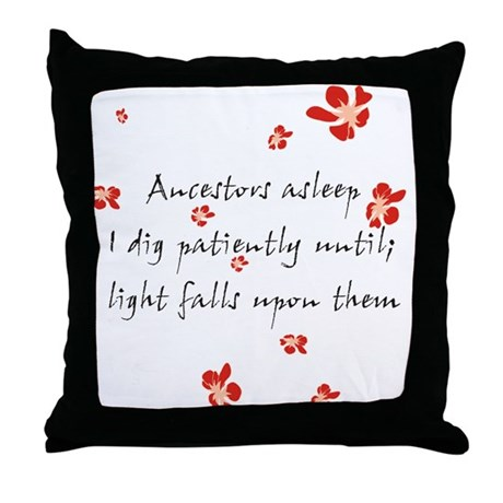 Genealogy Haiku Throw Pillow