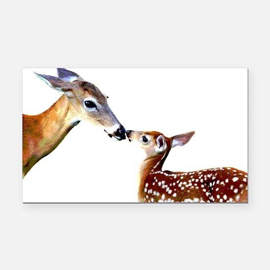 Cute Deer Rectangle Car Magnet