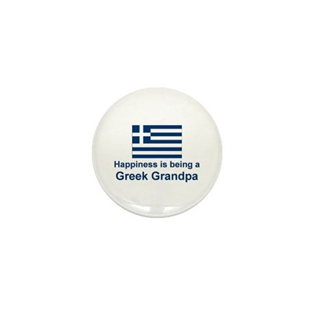 Happy Greek Grandpa Mini Button (10 pack)