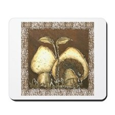 Mushrooms in Brown Mousepad