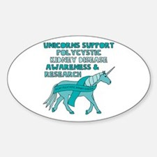 Unicorns Support Polycystic Kidney Disease Decal