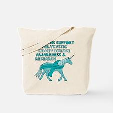 Unicorns Support Polycystic Kidney Diseas Tote Bag