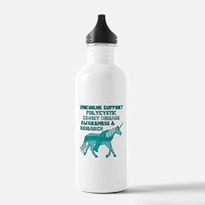 Unicorns Support Polyc Water Bottle