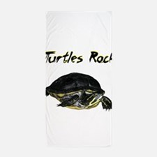 turtles_rock.jpg Beach Towel