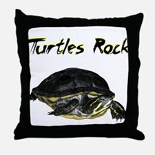 turtles_rock.jpg Throw Pillow