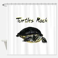 turtles_rock.jpg Shower Curtain