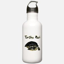 turtles_rock.jpg Water Bottle