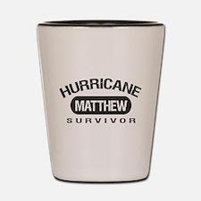 Hurricane Matthew Survivor Shot Glass