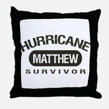 Hurricane Matthew Survivor Throw Pillow