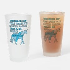 Unicorns Support Prostate Cancer Aw Drinking Glass