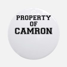 Property of CAMRON Round Ornament